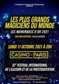 Affiche Les Mandrakes d'Or 2021 - Casino de Paris