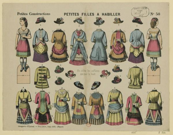 Petites filles à habiller Imagerie Pellerin à Epinal (Vosges).