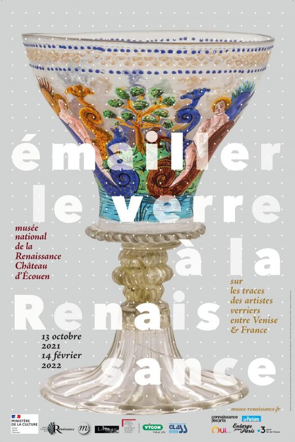 Affiche de l'exposition Émailler le verre à la Renaissance au Château d'Écouen - Musée de la Renaissance