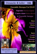 L'Ensemble baroque La Livri, Patrizia Capizzi et Ruben Bissoli en concert