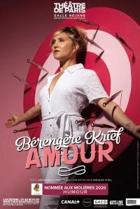 Affiche Bérengère Krief - Amour - Théâtre de Paris