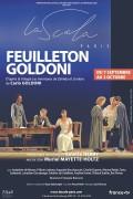 Affiche Feuilleton Goldoni - La Scala Paris