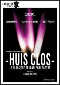 Affiche Huis clos - Laurette Théâtre