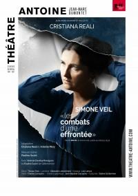 Affiche Simone Veil. Les combats d'une effrontée - Théâtre Antoine