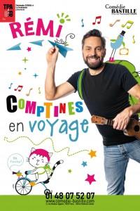 Affiche Rémi - Comptines en voyage - Comédie Bastille