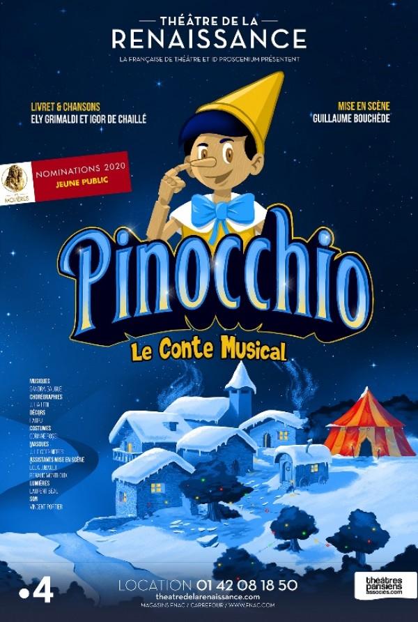 Affiche Pinocchio - Théâtre de la Renaissance
