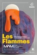 Affiche de l'exposition Les Flammes - L'Âge de la céramique au Musée d'Art moderne de la ville de Paris