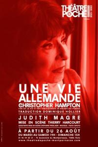 Affiche Une vie allemande - Théâtre de Poche-Montparnasse