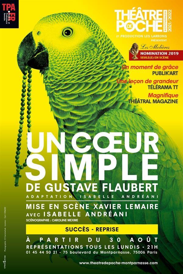 Affiche Un coeur simple - Théâtre de Poche-Montparnasse