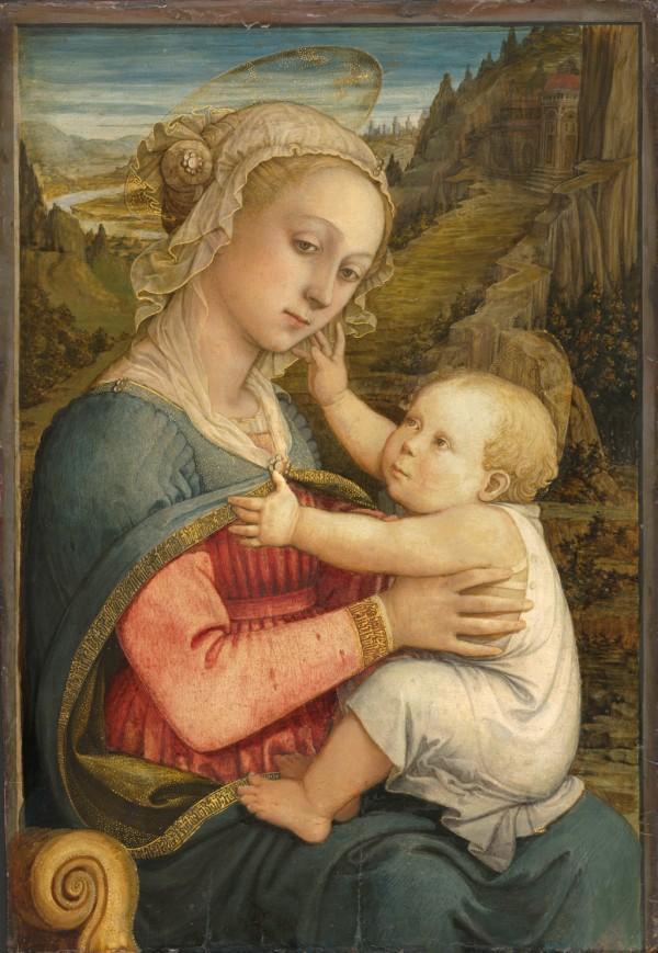Filippo Lippi (vers 1406 – 1469), Vierge à l'Enfant, vers 1460-1465, tempera sur bois de peuplier, 76,9 x 54,1 cm Munich, Bayerische Staatsgemäldesammlungen – Alte Pinakothek,
