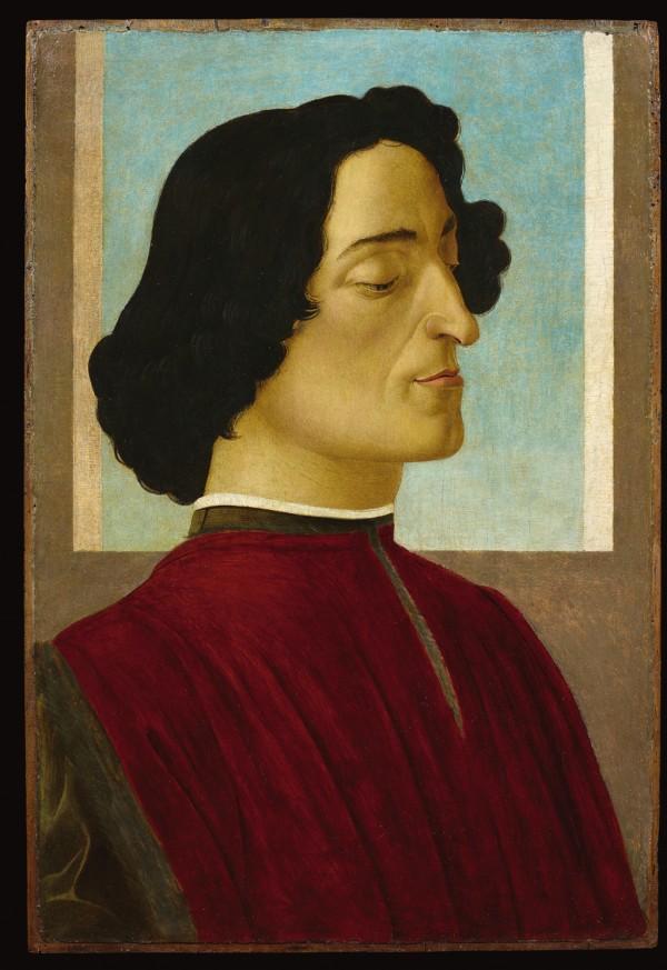 Alessandro Filipepi dit Botticelli (vers 1445 – 1510), Portrait de Julien de Médicis, vers 1478–1480, tempera et huile sur bois, 59,5 × 39,3 cm, Bergame, Accademia Carrara