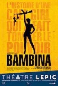Affiche Serena Reinaldi - Bambina - Théâtre Lepic