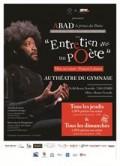 Affiche Entretien avec un poète - Théâtre du Gymnase