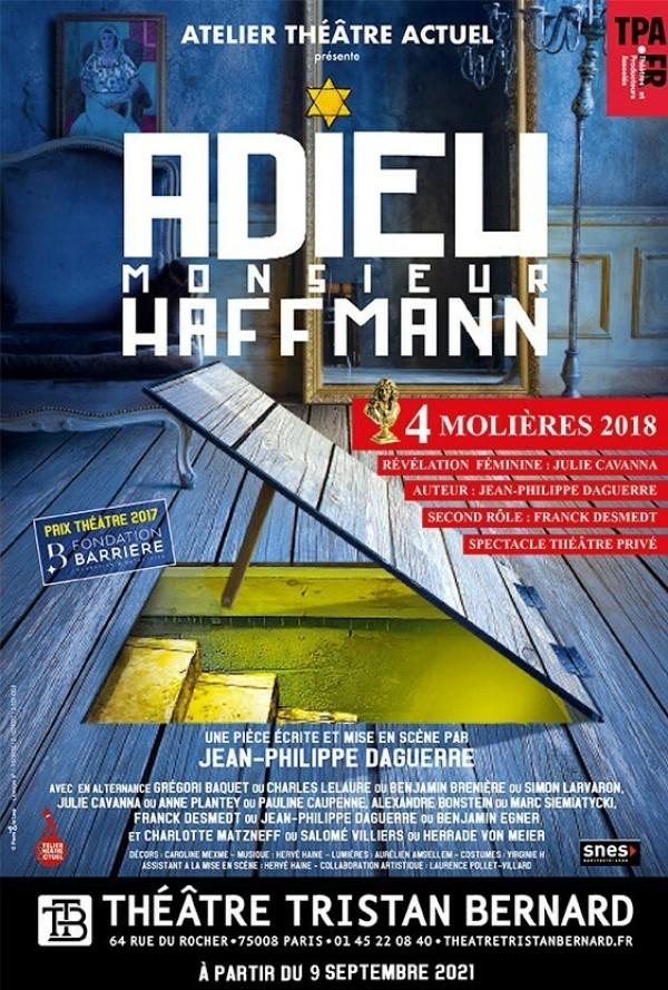 Affiche Adieu Monsieur Haffmann - Théâtre Tristan-Bernard