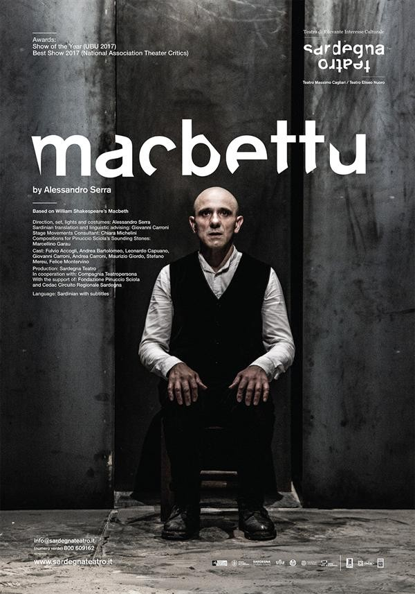 Affiche Macbettu - Théâtre des Bouffes du Nord