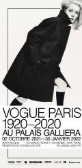 Affiche Vogue Paris : 1920-2020 au Palais Galliera