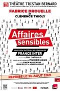 Affiche Affaires sensibles - Théâtre Tristan-Bernard