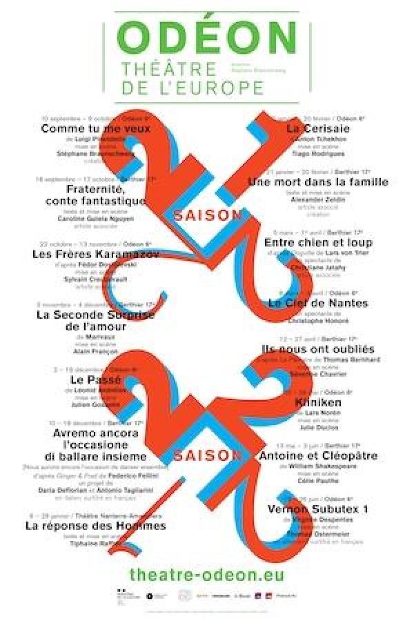 Affiche Comme tu me veux - Odéon - Théâtre de l'Europe