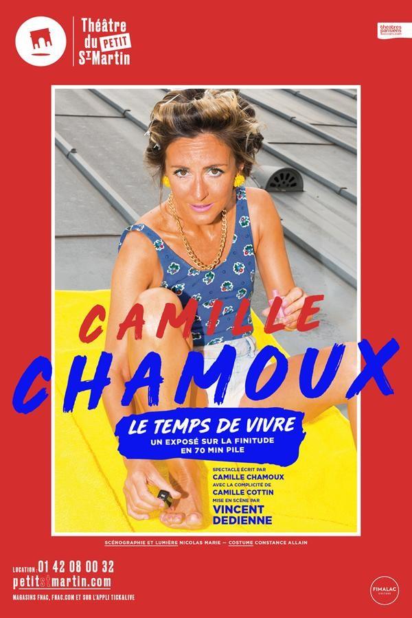 Affiche Camille Chamoux - Le temps de vivre - Théâtre du Petit Saint-Martin