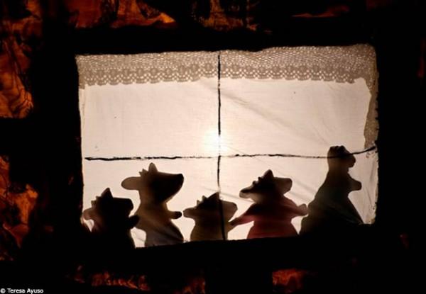 Le pauvre méchant loup : ombres chinoises