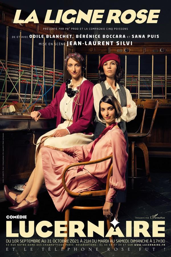 Affiche La ligne rose - Théâtre du Lucernaire