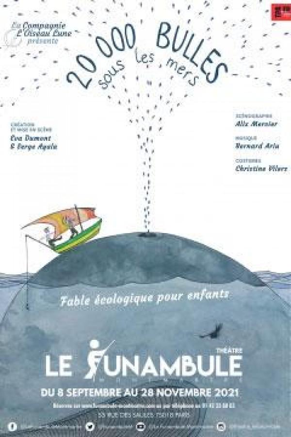 Affiche 20 000 bulles sous les mers - Le Funambule