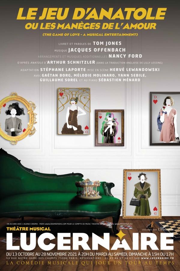 Affiche Le jeu d'Anatole ou les manèges de l'amour - Théâtre du Lucernaire