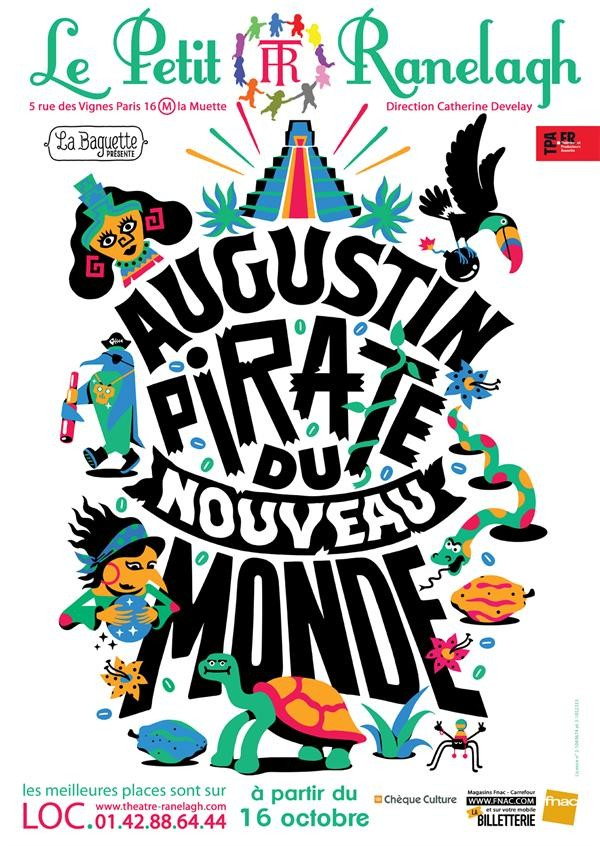 Affiche Augustin, pirate du Nouveau Monde - Théâtre Ranelagh