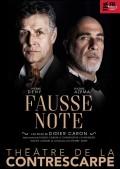 Affiche Fausse note - Théâtre de la Contrescarpe