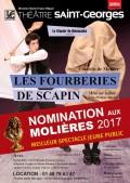 Affiche Les Fourberies de Scapin - Théâtre Saint-Georges