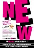 Affiche New - La comédie musicale improvisée - Le Grand Point Virgule