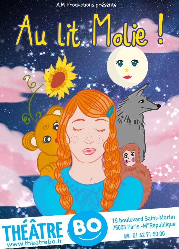 Affiche Au lit Molie - Théâtre BO Saint-Martin