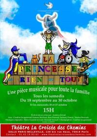 Affiche La princesse de rien du tout - Théâtre La Croisée des Chemins - Salle Belleville