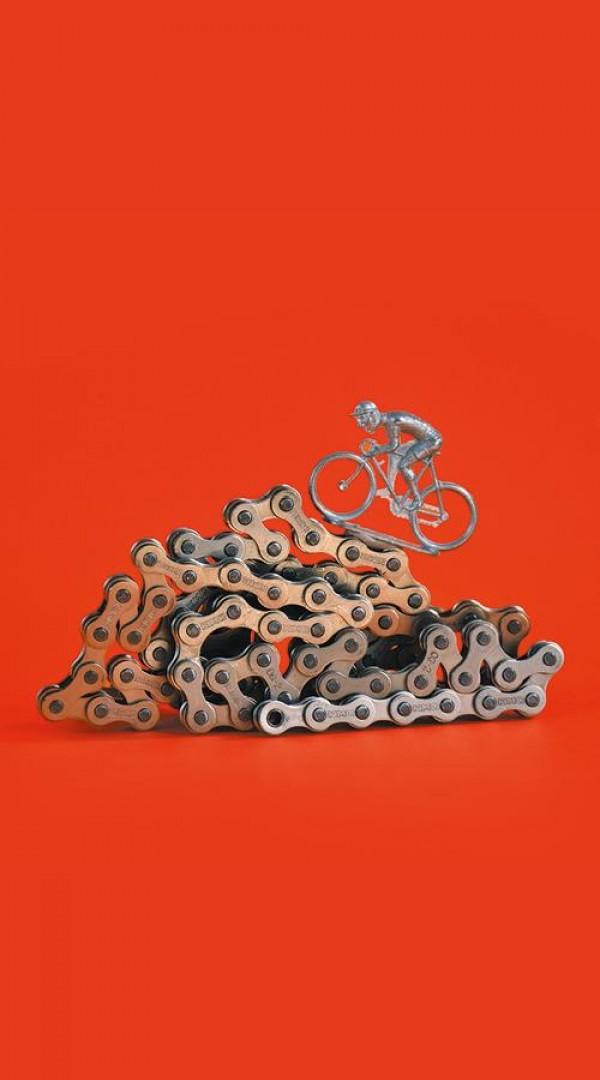 Affiche 54 x 13 (Dans la tête d'un coureur cycliste) - Le Mouffetard - Théâtre des arts de la marionnette