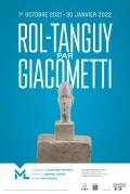 Affiche de l'exposition Rol-Tanguy par Giacometti au Musée de la Libération de Paris - Musée du Général Leclerc - Musée Jean Moulin