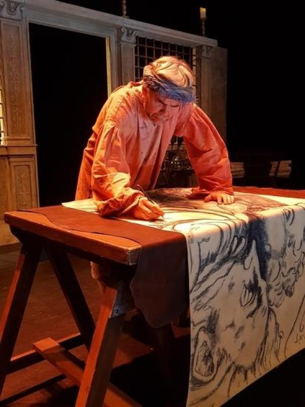 Affiche Michel-Ange 1508 - Théâtre de Saint-Maur