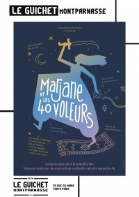 Affiche Marjane et les quarante voleurs - Guichet-Montparnasse