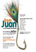 Affiche Dom Juan ou le Festin de pierre à la Comédie Italienne