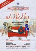 Affiche 2 sur la balançoire - Théâtre du Gymnase