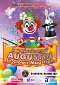 Affiche Les aventures d'Augustin le clown magicien - Théâtre du Gymnase