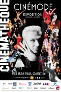 Affiche de l'exposition CinéMode par Jean Paul Gaultier à la Cinémathèque