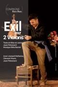 Affiche Exil pour deux violons - Théâtre L'Essaïon