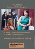 Le Trio Safran et Emmanuelle Moriat en concert