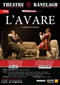 Affiche L'Avare - Théâtre Ranelagh