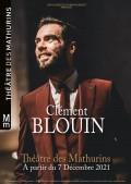 Affiche Clément Blouin - Insaisissable - Théâtre des Mathurins
