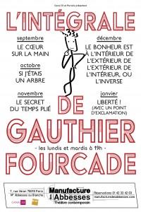 Intégrale Gauthier Fourcade à La Manufacture des Abbesses