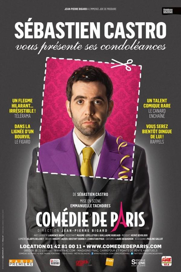 Sébastien Castro vous présente ses condoléances à la Comédie de Paris