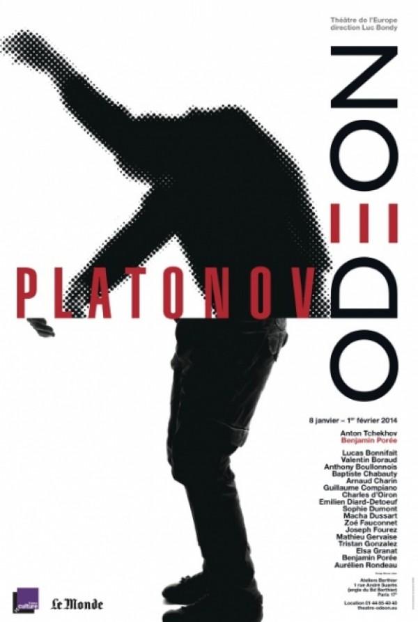 Platonov : Affiche au Théâtre de l'Odéon