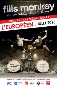Fills Monkey : incredible Drum Show à L'Européen
