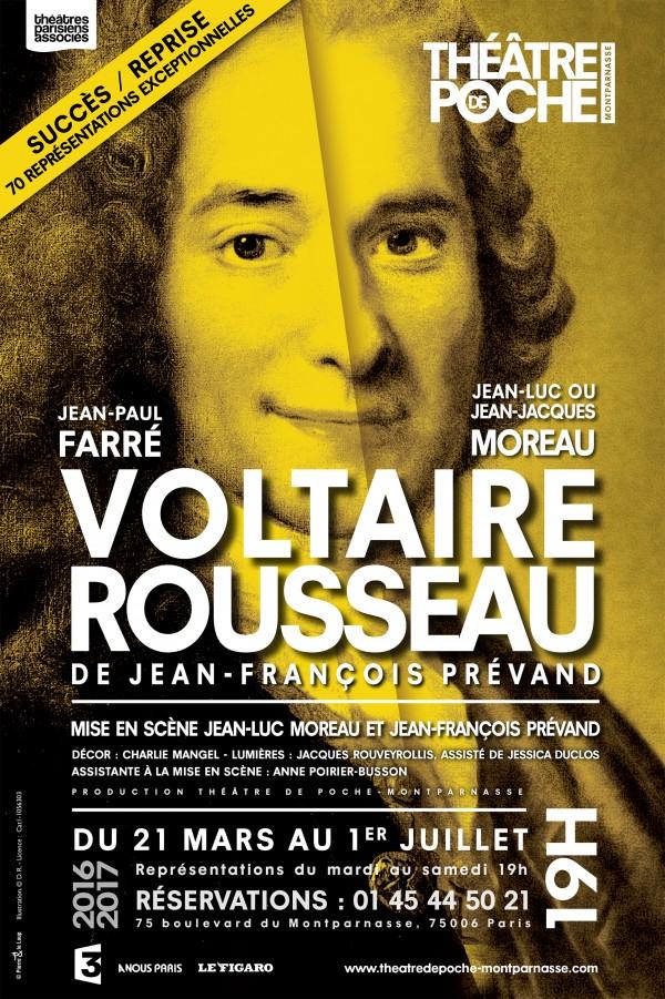 Voltaire-Rousseau au Théâtre de Poche-Montparnasse